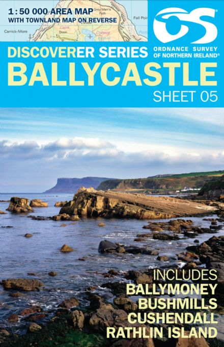 Ordnance Survey Northern Ireland 1:50,000 - Map 05 - Ballycastle